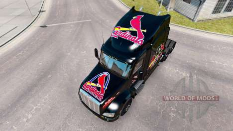 Skin St. Louis Cardinals on the tractor Peterbil for American Truck Simulator