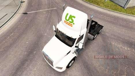 Skin US Foods truck Peterbilt for American Truck Simulator