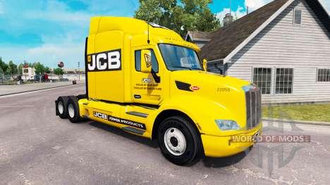 JCB skin for the truck Peterbilt for American Truck Simulator