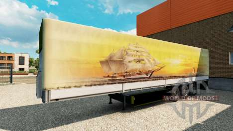 Skin Meridianas on the trailer for Euro Truck Simulator 2