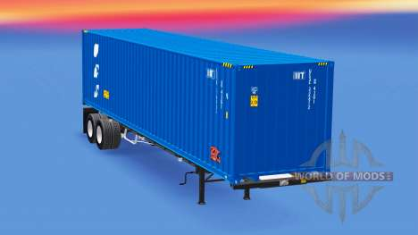 Semi-trailer with a 40-foot container for American Truck Simulator