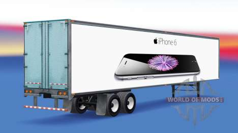 All-metal semi-trailer iPhone 6 for American Truck Simulator
