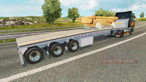 The semi-platform with the cart for Euro Truck Simulator 2