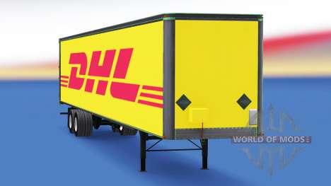 All-metal semitrailer DHL for American Truck Simulator
