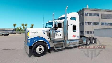 Skin Swift on the truck Kenworth W900 for American Truck Simulator