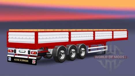 Flatbed semi trailer with a load of bricks for Euro Truck Simulator 2