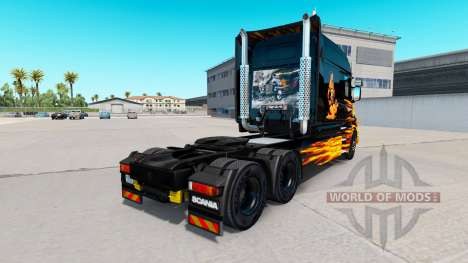 Skin Hot Ride on tractor Scania T for American Truck Simulator