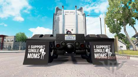 Mudguards I Support Single Moms v1.1 for American Truck Simulator