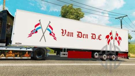 Semi-trailer refrigerator Chereau Van Den D. C for Euro Truck Simulator 2