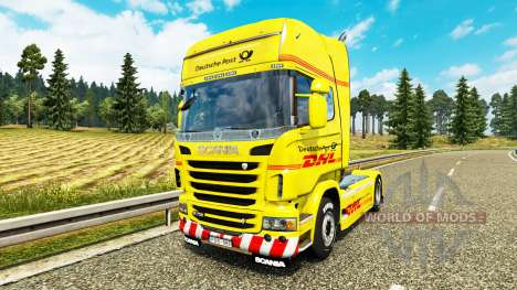 Skin DHL for Scania truck for Euro Truck Simulator 2