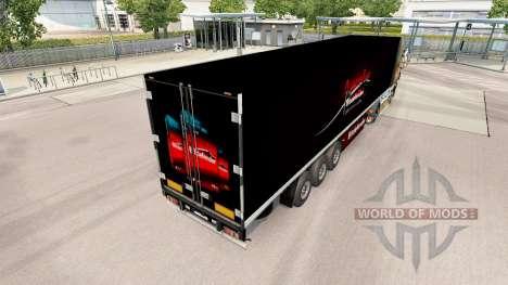Skin BitDefender on the trailer for Euro Truck Simulator 2