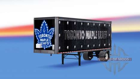 Skin Toronto Maple Leafs on the trailer for American Truck Simulator