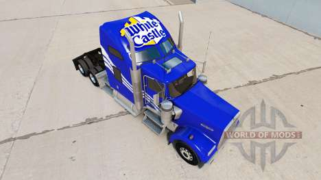 Skin White Castle on the truck Kenworth W900 for American Truck Simulator