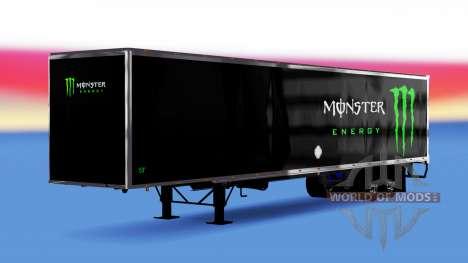 All-metal semi-trailer Monster Energy for American Truck Simulator