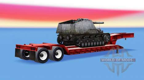 Low sweep with a cargo of SPG Hummel for American Truck Simulator