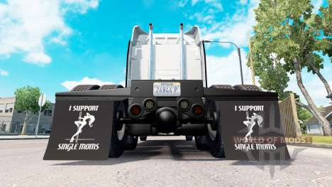 Mudguards I Support Single Moms v1.1 for American Truck Simulator