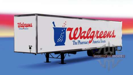 All-metal semi-Walgreens for American Truck Simulator