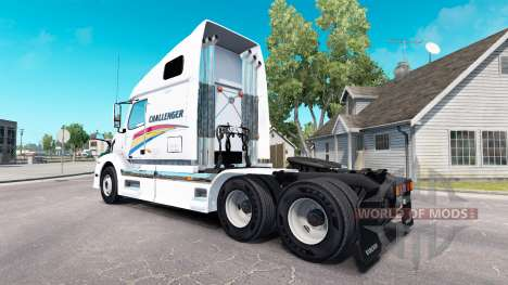 Skin on Challenger tractor Volvo VNL 670 for American Truck Simulator