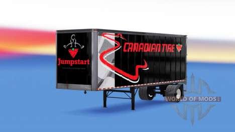 All-metal semi-trailer Canadian Tire for American Truck Simulator