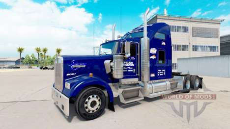Skin Uncle D Logistics on the truck Kenworth W90 for American Truck Simulator