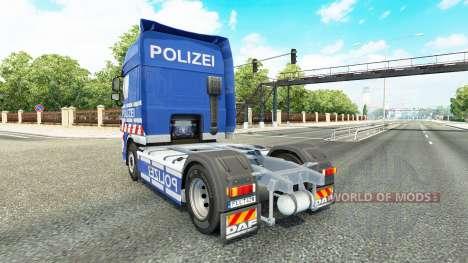 Police skin for DAF truck for Euro Truck Simulator 2