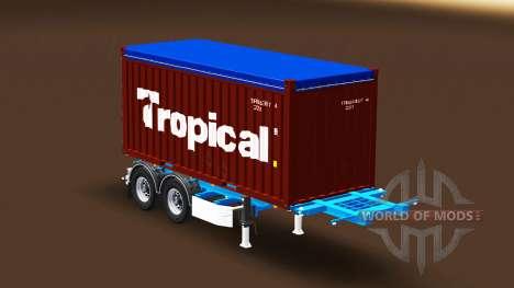 Semi-trailer with 20-pound container for Euro Truck Simulator 2