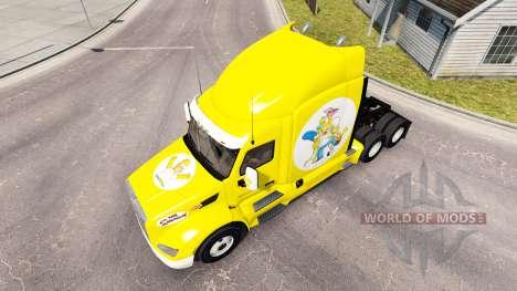 Simpsons skin for the truck Peterbilt for American Truck Simulator