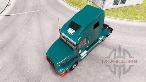 Wilson Trucking skin for Volvo truck VNL 670 for American Truck Simulator