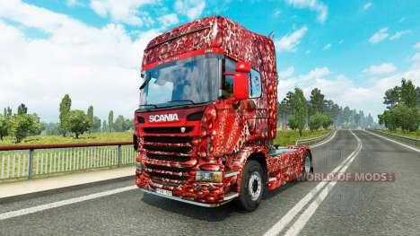 Skin Coca-Cola Bubbles on the tractor Scania for Euro Truck Simulator 2