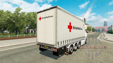Scania R730 Tandem British Red Cross for Euro Truck Simulator 2