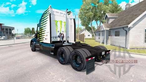The Monster Energy Falken skin for the truck Pet for American Truck Simulator