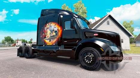 Star Trek skin for the truck Peterbilt for American Truck Simulator
