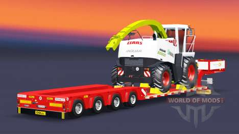 Low bed trawl Doll with the load of the processo for Euro Truck Simulator 2
