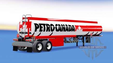 Skin Petro Canada fuel semi-trailer for American Truck Simulator