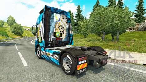 The Argentina Copa 2014 skin for Volvo truck for Euro Truck Simulator 2