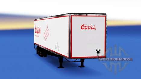 All-metal semi trailer Coors for American Truck Simulator