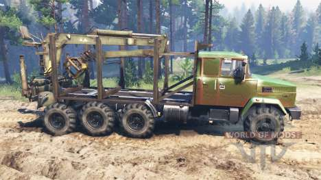KrAZ-7140 for Spin Tires