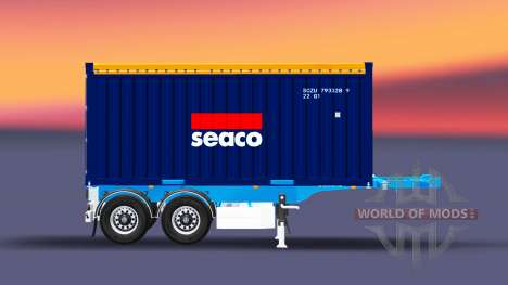 Semi-trailer with 20-pound container for Euro Truck Simulator 2