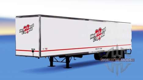 All-metal semi-Heartland Express for American Truck Simulator