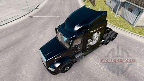 Marilyn Monroe skin for the truck Peterbilt for American Truck Simulator