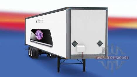 All-metal semi-trailer iPhone 6 for American Truck Simulator