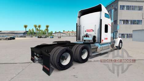 Skin Heartland Express, [white] truck Kenworth for American Truck Simulator