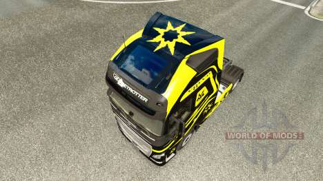 Skins Black & Yellow at Volvo trucks for Euro Truck Simulator 2