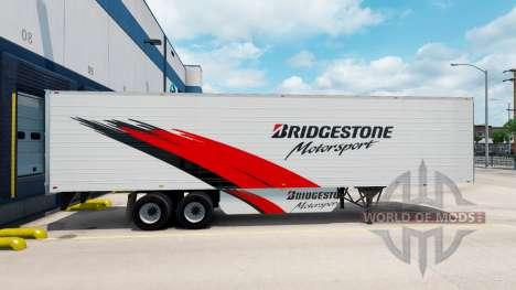 Bridgestone skin on the reefer trailer for American Truck Simulator