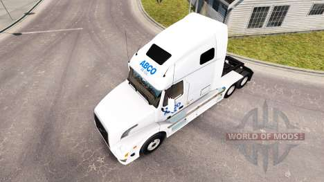 ABCO skin for Volvo truck VNL 670 for American Truck Simulator