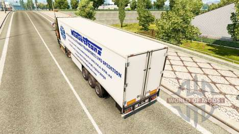 The West Truck Trans skin for trailer for Euro Truck Simulator 2