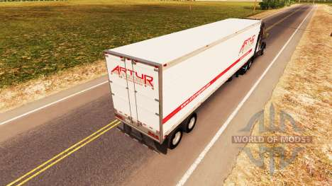 Skin Artur Express on the trailer for American Truck Simulator