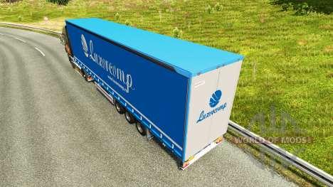 Curtain semi-trailer Luxorcomp for Euro Truck Simulator 2