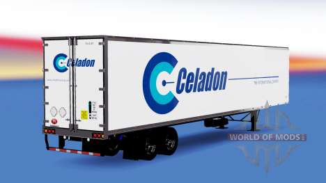 Celadon skin on the trailer for American Truck Simulator