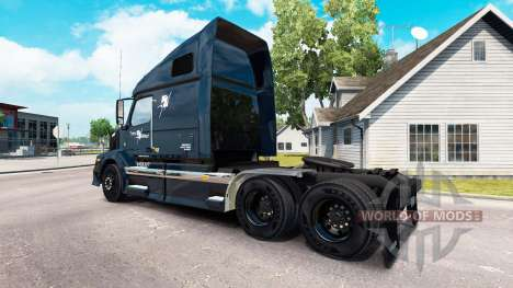 Skin Trans West truck tractor Volvo VNL 670 for American Truck Simulator